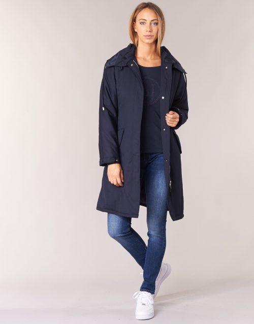 Armani jeans MERCHA women's Trench Coat in Blue