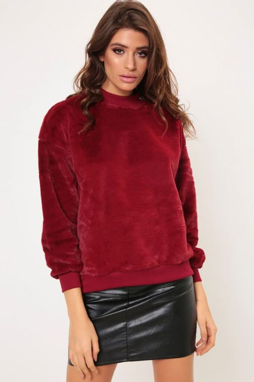 Berry Super Soft Sweatshirt - XS / RED