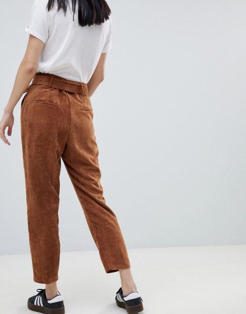 Bershka co-ord cord trousers