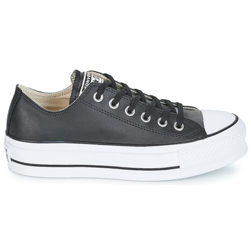 Converse CHUCK TAYLOR ALL STAR LIFT CLEAN OX women's Shoes (Trainers) in Black