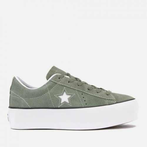 Converse Women's One Star Platform Ox Trainers - Vintage Lichen/Black/White