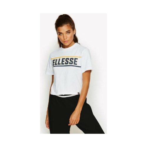Ellesse Palermo Cropped tee Shirt women's T shirt in White