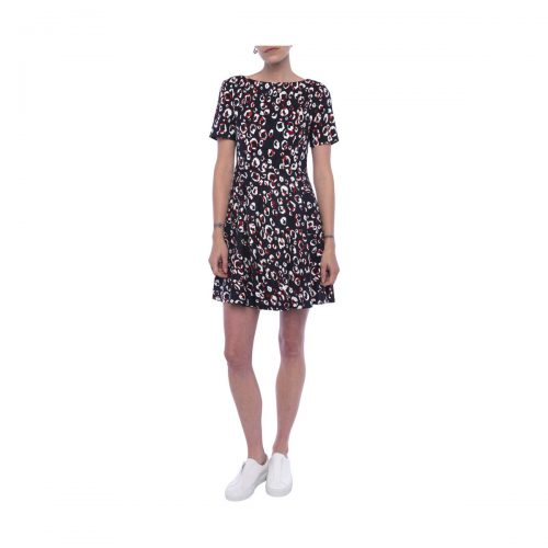 French Connection Printed dress Crew neck Short sleeves women's Dress in Blue