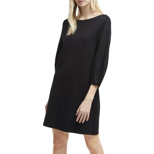 French Connection Solid straight dress 3/4 sleeves women's Dress in Black