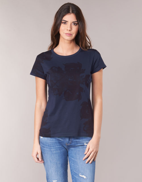 G-Star Raw GRAPHIC 2 R women's T shirt in Blue