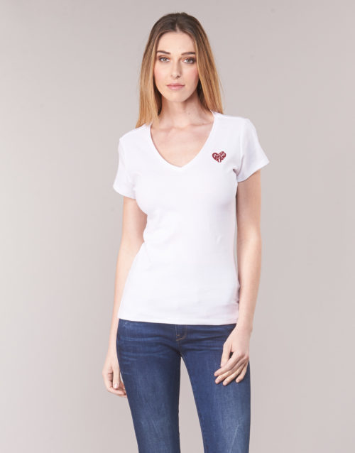 G-Star Raw GRAPHIC 51 SLIM T women's T shirt in White