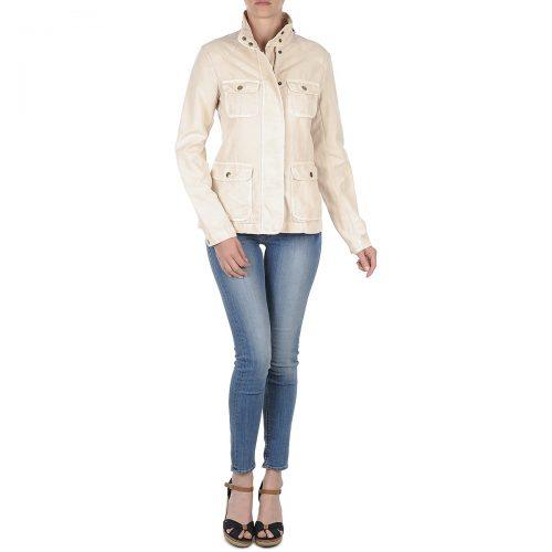Gant COTTON LINEN 4PKT JACKET women's Jacket in Beige