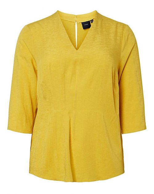 I.scenery Textured Pleated Blouse
