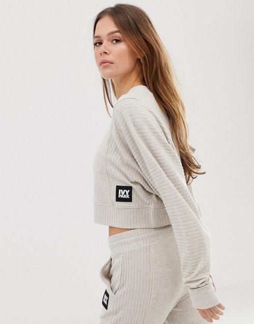 Ivy Park loungewear sweatshirt in sand