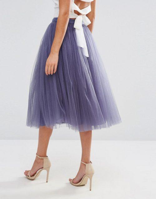 Little Mistress Tulle Midi Prom Skirt