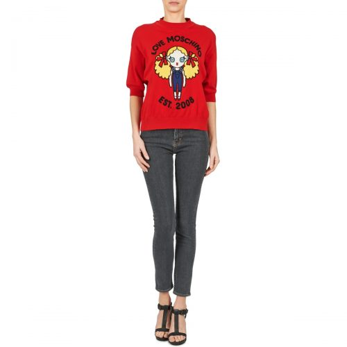 Love Moschino AGAPANTE women's Skinny Jeans in Grey
