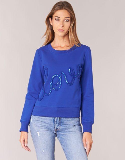 Love Moschino W632201E1774 women's Sweatshirt in Blue