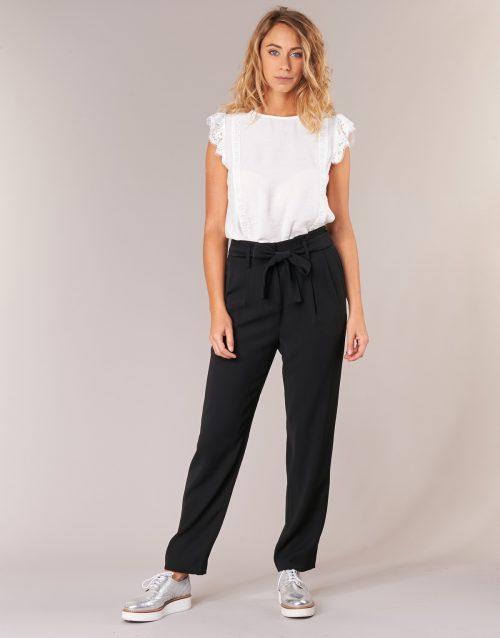 MICHAEL Michael Kors CRT SHAPE PLTD PANT women's Trousers in Black