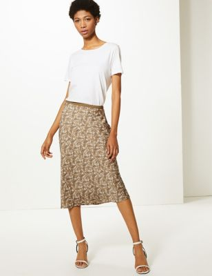 M&S Collection Floral Print Slip Skirt