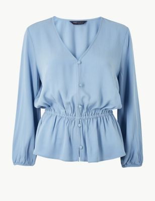 M&S Collection Waist Detailed Blouse