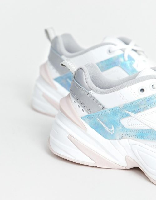Nike M2K Tekno trainers in Iridescent pink and blue