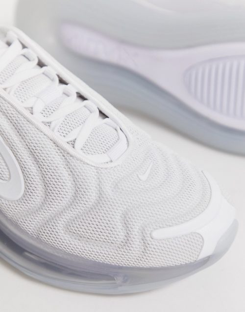 Nike triple white air max 720 trainers