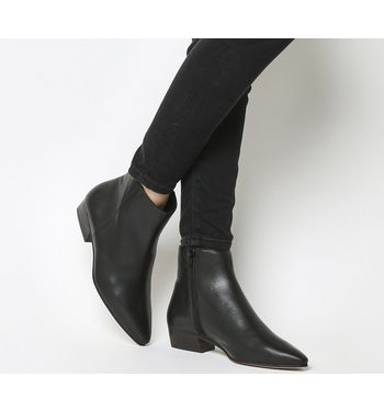 Office Andalucia- Casual Low Heel Boot BLACK LEATHER