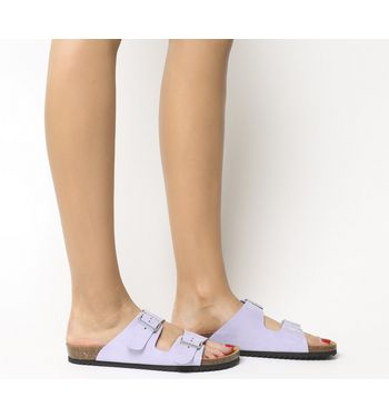 Office Hype 2 Double Strap Sandals LILAC NUBUCK