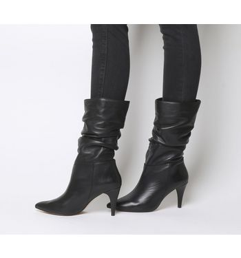Office Keepsake- Dressy Slouch Calf Boot BLACK LEATHER