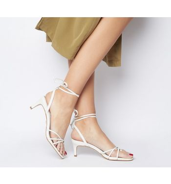 Office Milo Strappy Back Toe Loop Sandal WHITE LEATHER