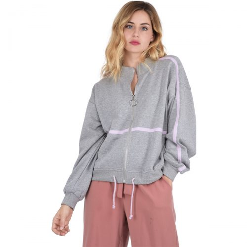 On Parle De Vous Sportswear jersey jacket women's Sweatshirt in Grey