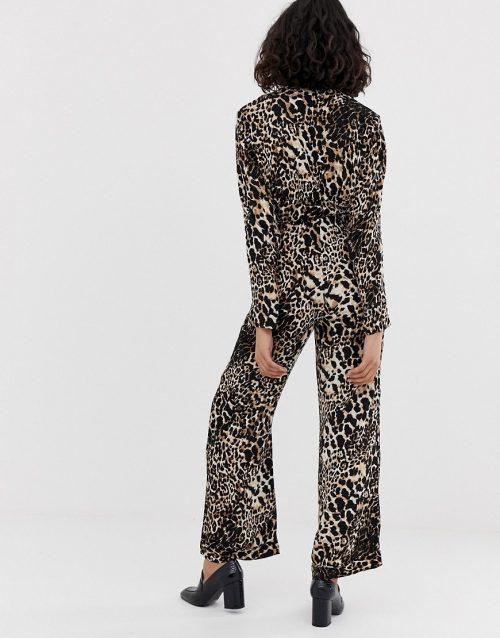 Resume Karla leopard print wide leg trousers