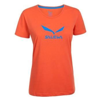 Salewa Koszulka Solidlogo DRY W S/S TEE 24555-6011 women's T shirt in Orange