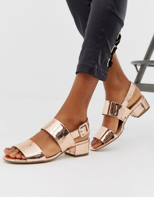 Steve Madden double strap mid heel sandals