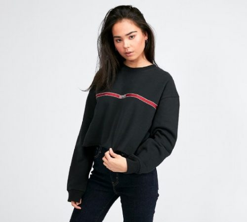 Womens Graphic Raw Cut Sweatshirt