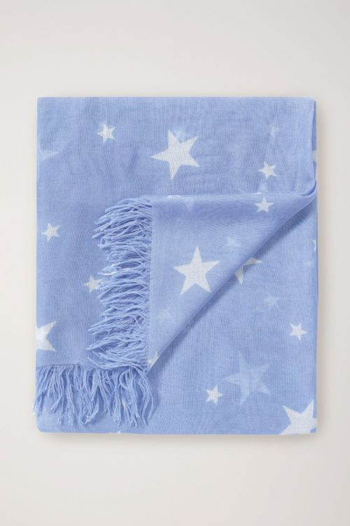Womens Pure Collection Blue Ultra Soft Printed Scarf - Blue