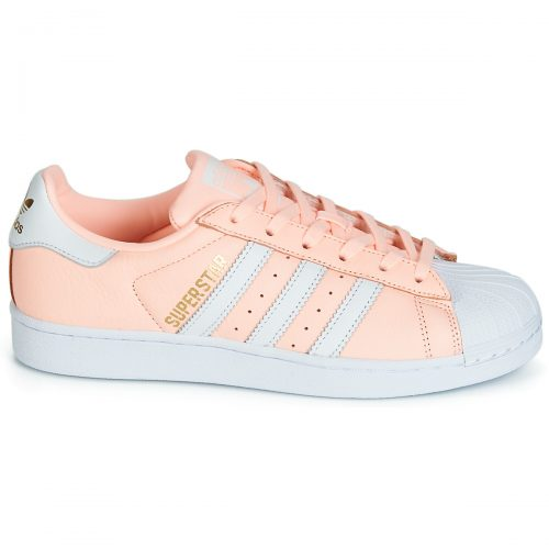 adidas SUPERSTAR W women's Shoes (Trainers) in Pink