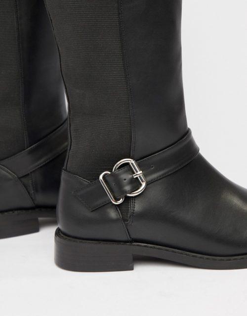 ASOS DESIGN Carrick knee high riding boots