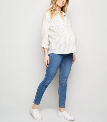 Maternity Multicoloured Stripe Overhead Shirt New Look