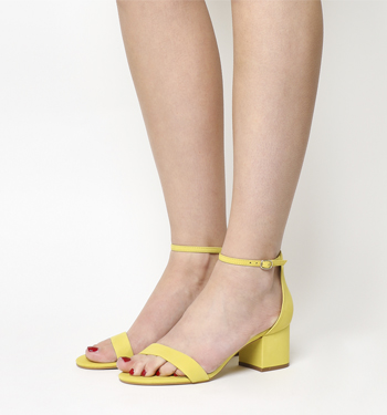 Office Finley Block Heel Sandal YELLOW NUBUCK