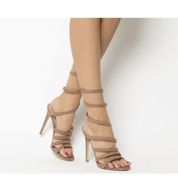 Office Hundred Heel Strippy Sandal NUDE