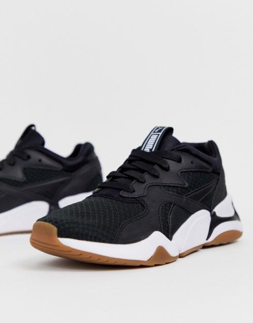 Puma Nova 90'S block black trainers