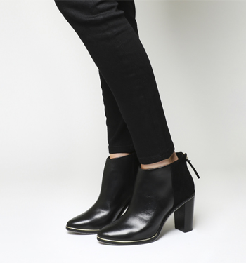 Ted Baker Azaila Ankle Boot BLACK LEATHER SUEDE