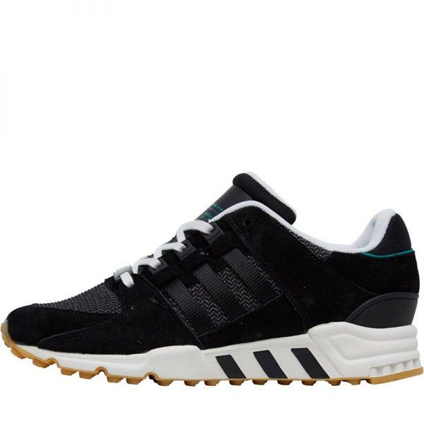 new style 13cf9 99ba5 adidas Originals Womens EQT Support RF Trainers Core Black/Core Black/Sub  Green