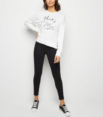 White This Is Me Slogan Jumper New Look