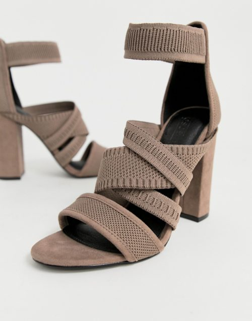ASOS DESIGN Harlow knitted heeled sandals