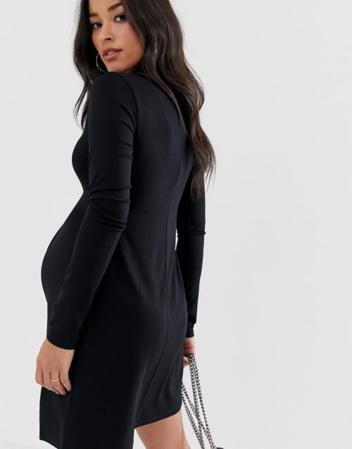 ASOS DESIGN Maternity twist front shirt dress