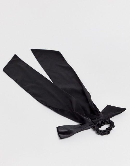 ASOS DESIGN oversized hair scarf in black