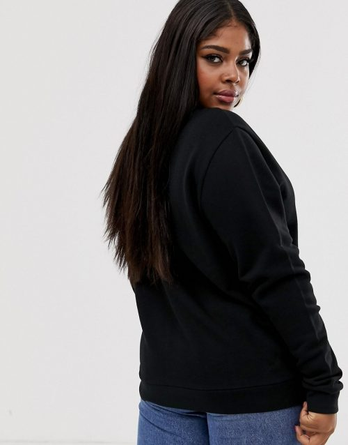 ASOS DESIGN x glaad& Curve oversized sweatshirt with embroidery