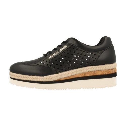 Armani jeans 925166 women's Shoes (Trainers) in Black