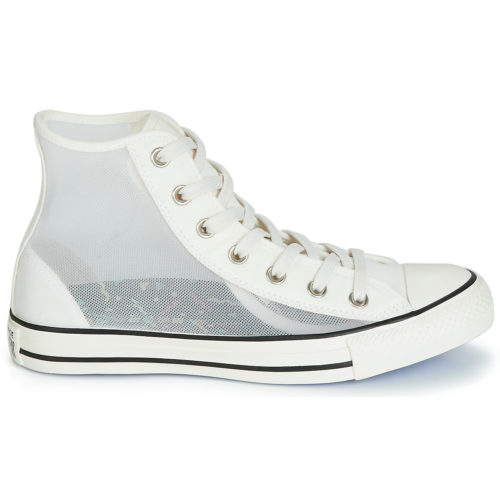 Converse CHUCK TAYLOR ALL STAR SEE THRU HI women's Shoes (High-top Trainers) in White