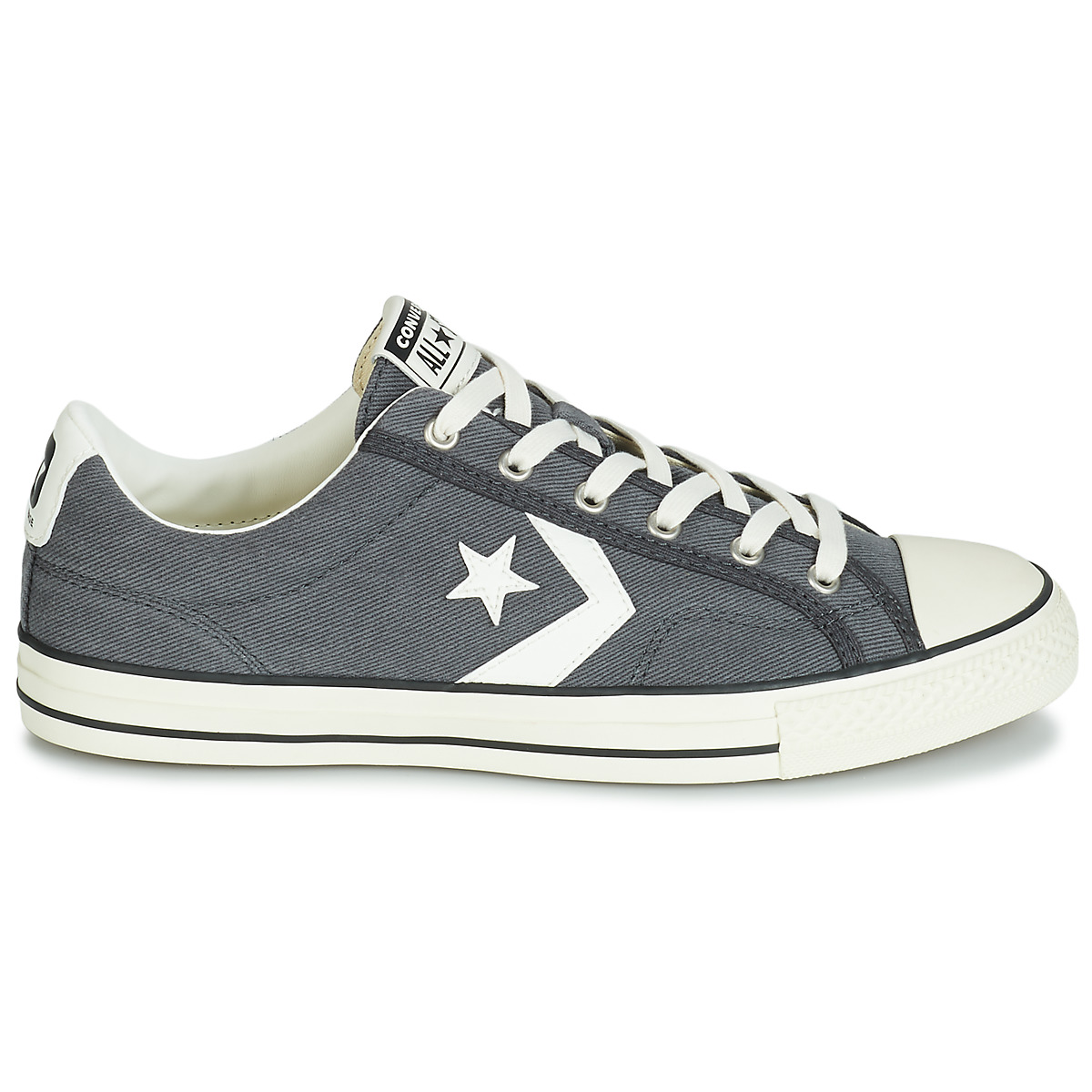 Converse STAR PLAYER VINTAGE CANVAS OX women's Shoes (Trainers) in Grey