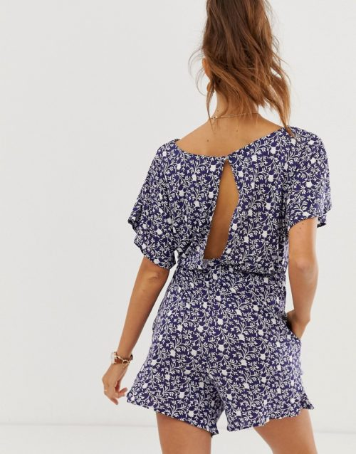 French Connection floral print playsuit