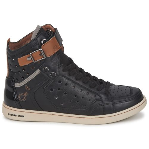G-Star Raw MINERVA women's Shoes (High-top Trainers) in Black