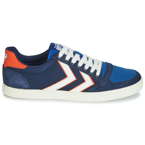 Hummel SLIMMER STADIL LOW women's Shoes (Trainers) in Blue